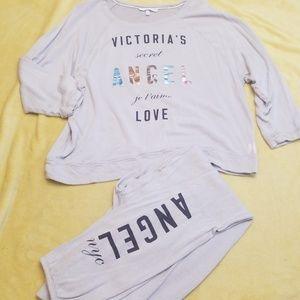 Victoria's Secret Sweat Shirt and Pants SZ M